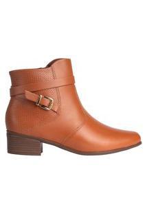 Bota Feminina Comfortflex Ankle Boot Caramelo