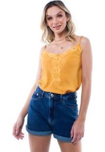 Blusa Alça Estampado Colorido Pop Me Feminina - Feminino-Caramelo