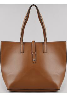 Bolsa Feminina Shopper Shoulder Grande Caramelo