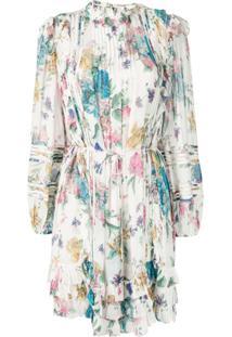 Zimmermann Vestido Com Estampa Floral - Branco
