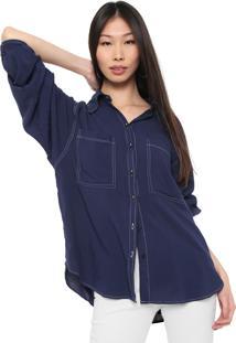 Camisa Colcci Bolsos Azul-Marinho