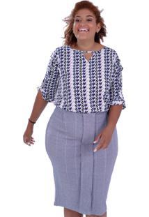 Blusa Astrid Plus Size Vickttoria Vick Plus Size Off-White