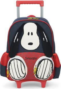 Mochila De Rodinhas Snoopy