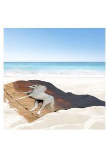 Toalha De Praia / Banho Cavalo Selvagem Único