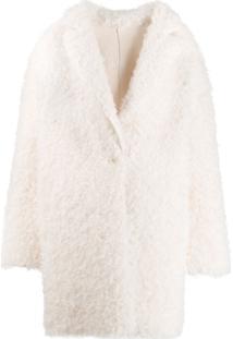 Pinko Casaco Texturizado - Branco