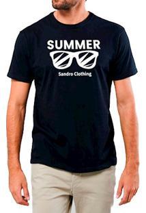 Camiseta Masculina Sandro Clothing Glasses Preta