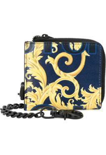 Versace Jeans Couture Carteira Mini Com Estampa Barroca - Azul