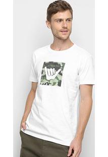 Camiseta Hang Loose Silk Logoarmy Camuflagem Masculina - Masculino