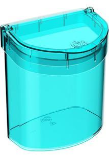 Lixeira Glass Para Pia- Verde Água- 20,8X20,1X14,3Cmcoza