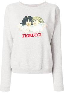 Fiorucci Blusa De Moletom Com Estampa De Logo - Cinza