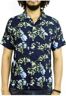Camisa Andy Roll Clothing Flora Offsider Azul