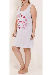 Camisola Dream Plus Size Feminina Cinza