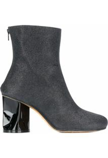 Maison Margiela Ankle Boot Com Salto - Preto