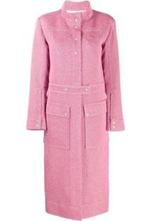 Courrèges Trench Coat Clássico - Rosa