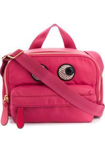 Anya Hindmarch Snake Effect Eyes Crossbody Bag - Rosa