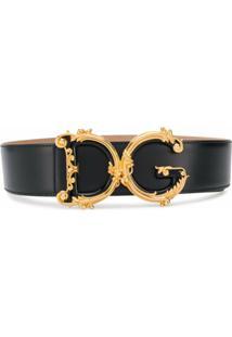 Dolce & Gabbana Cinto Com Fivela Dg - Preto