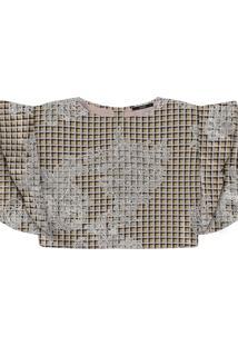 Blusa Cropped Tecido Estampada Haig - Lez A Lez
