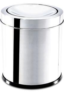 Lixeira Com Tampa Basculante- Inox- 19,3X17X16,4Cm