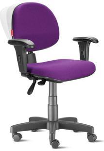 Cadeira Ergonômica Nr17 Executiva Crepe Roxo