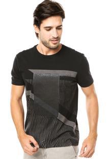 Camiseta Calvin Klein Jeans Abstract Preta