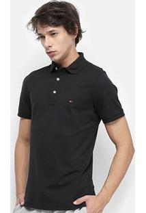 Camisa Polo Tommy Hilfiger Piquet Básica Slim Fit Masculina - Masculino