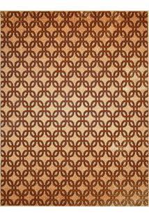 Tapete Marbella Galileo Retangular (150X200Cm) Caramelo E Creme