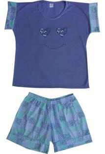 Pijama Pv Línea Sorriso Roxo