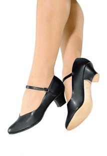 Sapato Dança De Salão Só Dança Napa Ch52 Salto 5Cm Preto