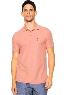 Camisa Polo Aleatory Reta Coral