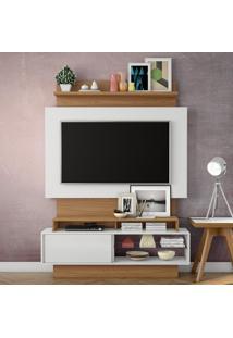 Painel Para Tv Tb111 Off White/Freijo - Dalla Costa