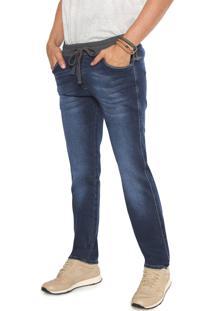 Calça Jeans Timberland Reta Lisa Azul