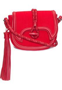Bolsa Feminina Camurça Napa Club Red - Vermelho