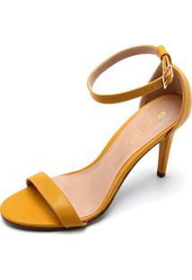 Sandália Via Uno Tiras Amarelo