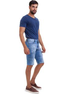 Bermuda Versani Jeans Claro