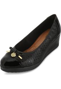 Sapato Sense Anabela Af18-223506 Gamboa Preto