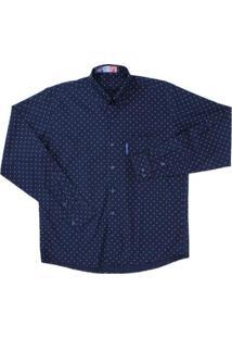 Camisa Masculina Rodeo Western - Masculino-Azul Escuro