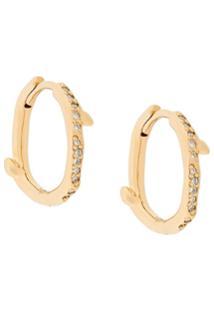 Shaun Leane Par De Brincos De Prata Banhada A Ouro Com Diamantes - Dourado