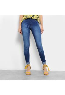 e2db69296 ... Calça Jeans Skinny Biotipo Estonada Barra Dobrada Cintura Média Feminina  - Feminino-Jeans