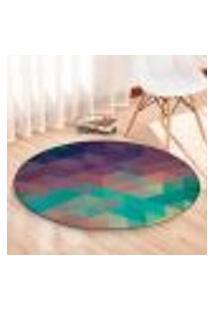 Tapete Redondo Wevans Geometric Color 84Cm