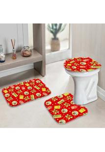 Jogo Tapetes Para Banheiro Presentes Único - Kanui