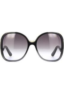 Óculos De Sol Chloé Degradê Feminino - Feminino-Preto