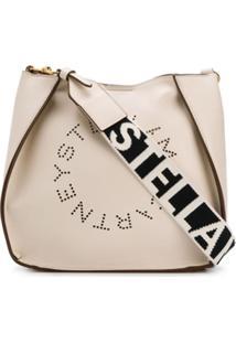 Stella Mccartney Bolsa Tiracolo Stella Com Logo - Branco