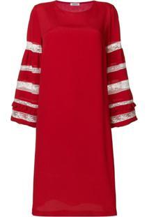 P.A.R.O.S.H. Vestido Com Recortes De Renda - Vermelho