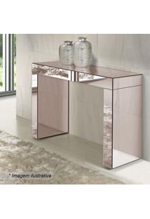 Aparador Reflex I Liso- Espelhado & Bronze- 80X100X3Rg Móveis