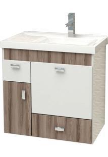 Toucador Para Banheiro Com Cuba 60Cm Tamarindo - Orquídea - Cozimax - Cozimax