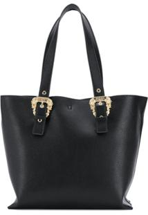 Versace Jeans Couture Baroque Buckle Tote Bag - Preto