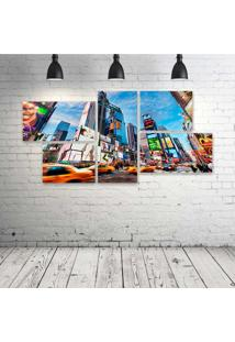 Quadro Decorativo - Times-Square-New-York - Composto De 5 Quadros