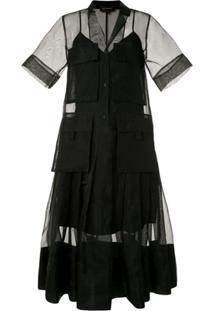 Lee Mathews Vestido Midi Callie - Preto