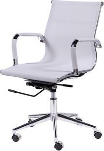 Cadeira Office Eames Tela Baixa Giratória- Branca- 9Or Design