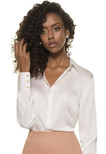 Camisa De Seda Principessa Adele Off White